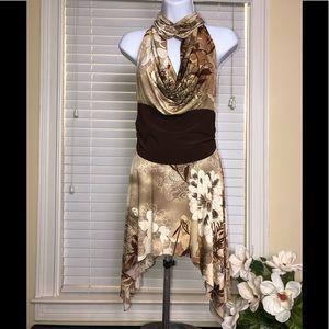 Dresses & Skirts - Pretty Tan Brown Backless Halter Dress